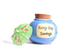 Free Rainy Day Jar With Umbrella Stock Photos - 14413523