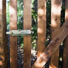 Free Wood Gate Royalty Free Stock Photo - 14413525