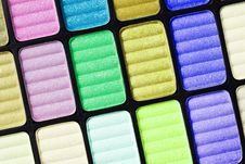 Part Of The Colorful Palette Royalty Free Stock Photography