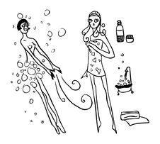 Free Beauty Spa Woman Bath Stock Photo - 14413860