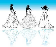 Free Wedding Dress Icons Vector Stock Images - 14413864