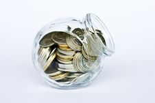 Free Jar Of Coins Royalty Free Stock Photography - 14414267