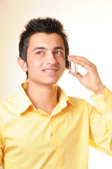 Free Young Businessman With Cell Phone Royalty Free Stock Photos - 14415358