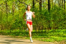 Free Pretty Girl Jogging Stock Photography - 14415462