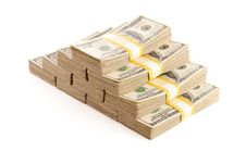 Free Stacks Of One Hundred Dollar Bills Isolated Stock Photos - 14415493