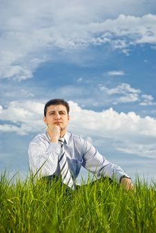 Free Businessman Relaxing Royalty Free Stock Photo - 14416155