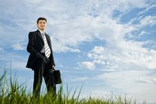 Free Businessman Is Staying Outdoors Stock Photos - 14416253