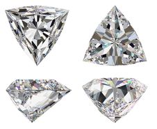 Diamond Three Star Isolated Stock Photos