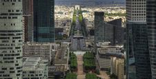 Arc De Triomphe Seen From Above Stock Photo