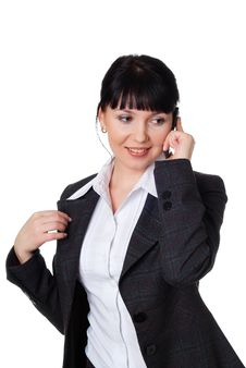Free Charming Young Woman In A Dark Business Suit Stock Photos - 14416853
