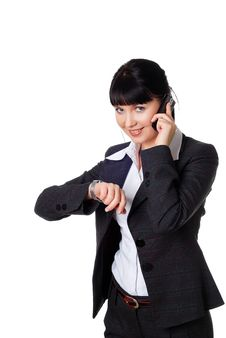Free Charming Young Woman In A Dark Business Suit Stock Photo - 14416860