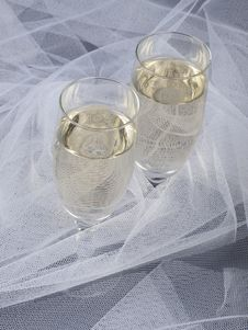 Free Glasses With Champagne Stock Images - 14417124