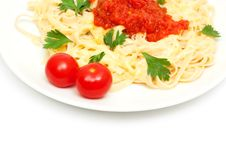 Pasta With Cheese And Sauce Stock Photography