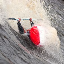 Free Freestyle On Whitewater Stock Photography - 14417782