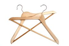 Free Coat Hangers Isolated On White Royalty Free Stock Images - 14418419