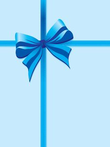 Free Blue Package Ribbon Royalty Free Stock Images - 14418489