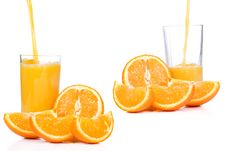 Free Orange And Outpouring Juice Stock Photo - 14418870