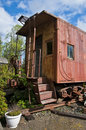 Free Old Red Caboose Royalty Free Stock Photos - 14424088