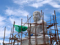 Free Biggest White Stone Buddha In Progress Stock Image - 14424091