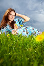Free Beautiful Young Woman On Field Royalty Free Stock Photos - 14425118