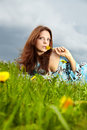 Free Beautiful Young Woman On Field Royalty Free Stock Images - 14425739