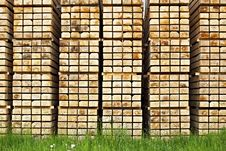Free Stack Of Cut Wood, Rectangular Pattern Stock Photography - 14420702