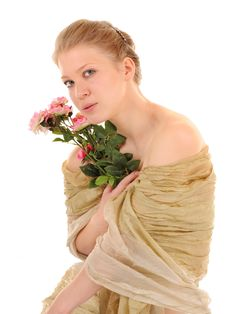 Free Transparent Girl With A Rose Stock Photography - 14421502