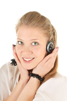 Free Young Girl With A Headphones Stock Photography - 14421522