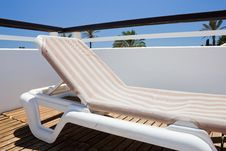 Deckchair In Resort Stock Photos