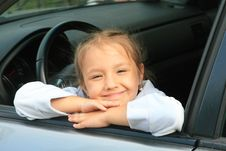 Free Young Girl In The Car Stock Images - 14421594