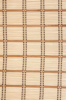 Small Rug From Bamboo Stock Photo