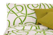 Free Bedding. Isolated Royalty Free Stock Photography - 14421797