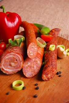 Free Sausages Royalty Free Stock Photo - 14422045