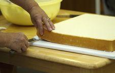 Setting The Cake Stock Image