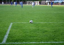 Free The Ball On The Soccer Field Stock Photography - 14422492