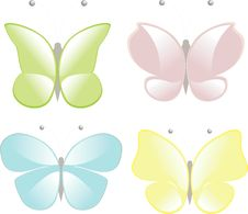 Free Four Butterflies Royalty Free Stock Photography - 14422957