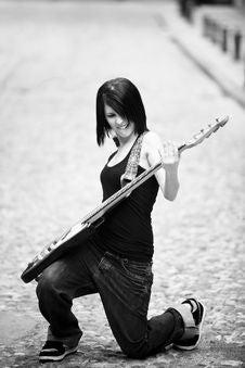 Free Joyful Guitarist Royalty Free Stock Image - 14423136