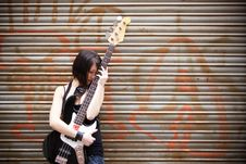 Free Artist With Her Instrument Royalty Free Stock Photo - 14423185