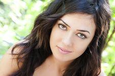 Green Eyed Beauty Stock Image