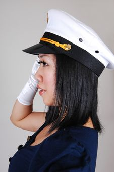 Free Chinese Sailor Girl. Stock Images - 14423994