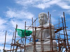 Free Biggest White Stone Buddha In Progress Stock Image - 14424091