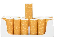 Free Pack Of Cigarettes With Cigarettes Sticking Out Royalty Free Stock Photos - 14424178