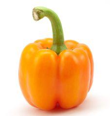 Free Fresh Orange Paprika Stock Photography - 14424462
