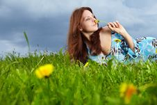 Free Woman On Field In Summer Royalty Free Stock Photography - 14425557