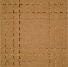 Free Cardboard With Perforated Lines Stock Photo - 14425600