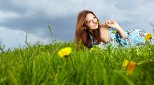Free Woman On Field In Summer Royalty Free Stock Images - 14425649