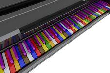Free Color Grand Piano Keys Stock Photography - 14425712