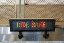 Free Ride Safe Sign Royalty Free Stock Image - 14425716