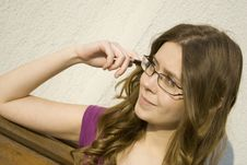 Free Woman/ Eye Glasses Stock Images - 14426604