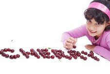 Free Kid With Cherry Stock Photo - 14426640